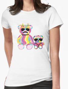 Rainbow Bear Womens Fitted T-Shirt