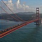 Golden Gate Bridge from Marin to San Francisco by Scott Johnson