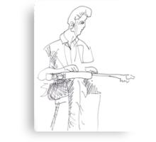 Slide player - Rick Dempster Canvas Print