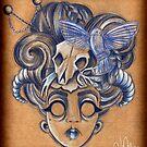 Geisha Skull by Laura McDonald