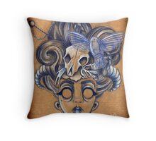 Geisha Skull Throw Pillow
