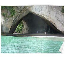 Cathedral Cave, Coromandel Peninsula, North Island, New Zealand Poster