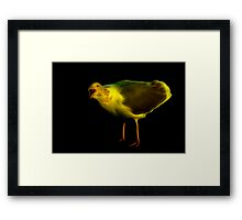 Was that bagel radioactive? Framed Print