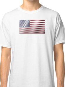 American Flag - USA - Metallic Classic T-Shirt