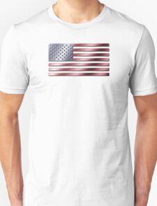 American Flag - USA - Metallic T-Shirt