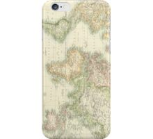Vintage Map of The World (1872) iPhone Case/Skin