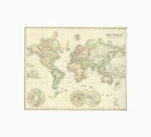 Vintage Map of The World (1872) Unisex T-Shirt