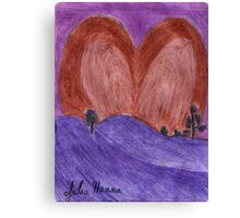 The Valentine Heart Sunset  Canvas Print
