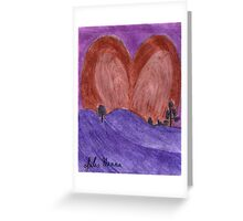 The Valentine Heart Sunset  Greeting Card