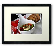 Leek-Pepper-Soup and Goat Cheese Au Gratin II Framed Print