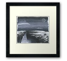 Night of zen Framed Print