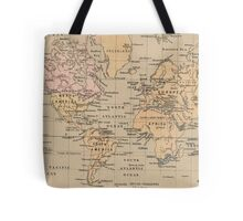 Vintage Map of The World (1880) Tote Bag