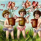 To My Valentine (Vintage Valentine Greeting Collage) by Joseph Welte