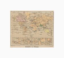Vintage Map of The World (1880) Unisex T-Shirt