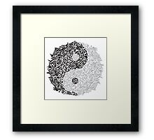 Zentangle Ying and Yang Framed Print
