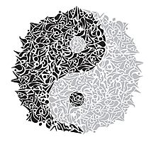Zentangle Ying and Yang Photographic Print