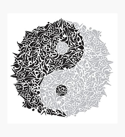 Zentangle Ying and Yang Photographic Print
