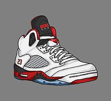 Shoes Fire Reds (Kicks) by Pancho The Macho