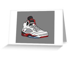 Shoes Fire Reds (Kicks) Greeting Card