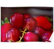 Bunch of red grapes Poster