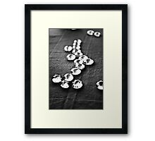 Glass beads in black & white Framed Print
