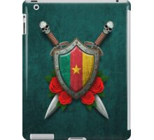 Cameroon Flag on a Worn Shield and Crossed Swords iPad Case/Skin