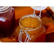 Apricot Jam in a glass jar Photographic Print