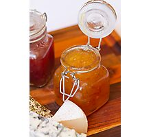 Jam on cheese platter Photographic Print