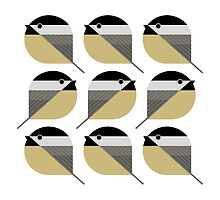 Nine Chickadees by Scott Partridge