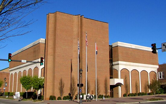 Macon County Courthouse by Jean Gregory  Evans