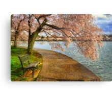 Meet Me At Our Bench Metal Print
