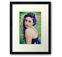 rainbows on titan Framed Print