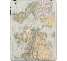 Vintage Map of The World (1892) iPad Case/Skin