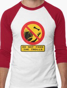 WARNING TROLLS Men's Baseball ¾ T-Shirt