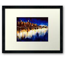Cityglow Framed Print