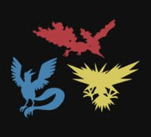 Pokemon Legendary Birds Tee by Aaron Campbell