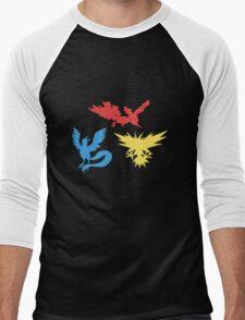 Pokemon Legendary Birds Tee Men's Baseball ¾ T-Shirt