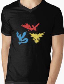 Pokemon Legendary Birds Tee Mens V-Neck T-Shirt