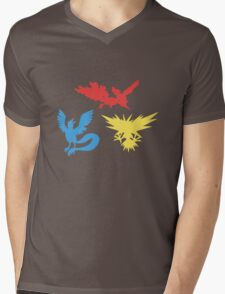 Pokemon Legendary Birds Tee Mens V-Neck T-Shirt