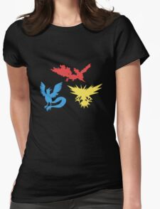 Pokemon Legendary Birds Tee Womens Fitted T-Shirt