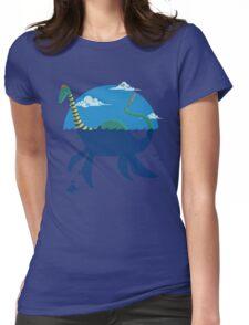 """Loch""""Ness"""" - Medium Blue Womens Fitted T-Shirt"""