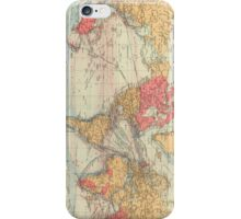 Vintage Map of The World (1895) 2 iPhone Case/Skin