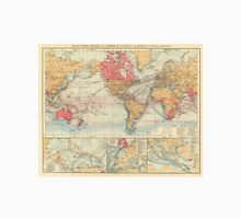 Vintage Map of The World (1895) 2 Unisex T-Shirt