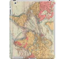 Vintage Map of The World (1895) 2 iPad Case/Skin