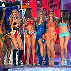 Victoria&#x27;s Secret Fashion models at the runway finale during 2006 Fashion Show in NYC.  by Anton Oparin