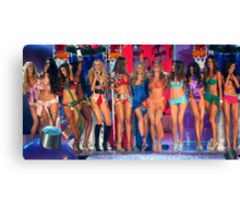 Victoria's Secret Fashion models at the runway finale during 2006 Fashion Show in NYC.  Canvas Print