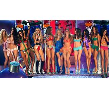 Victoria's Secret Fashion models at the runway finale during 2006 Fashion Show in NYC.  Photographic Print