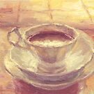 Coffee cup still life oil painting by Svetlana  Novikova