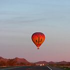 Hot Air Balloon Over Care Free Highway by selca6