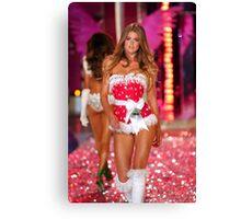 Victoria's Secret model Doutzen Kroes walks the runway Canvas Print
